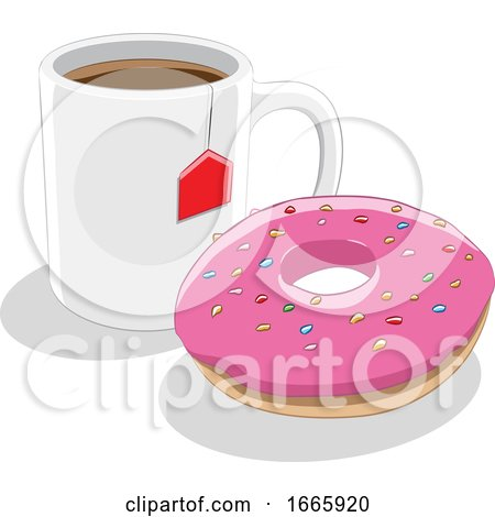 Donut and Tea Posters, Art Prints