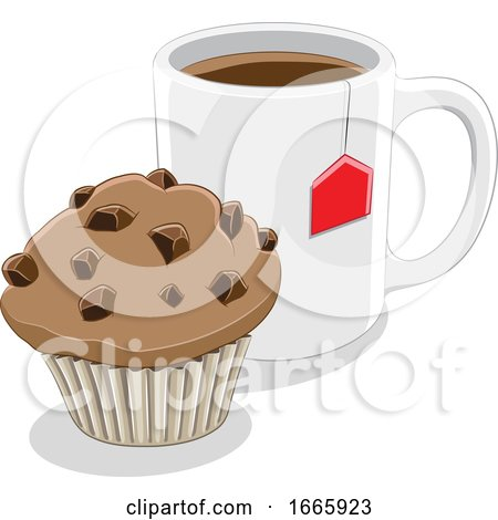 Coffee Mug and Muffin Posters, Art Prints