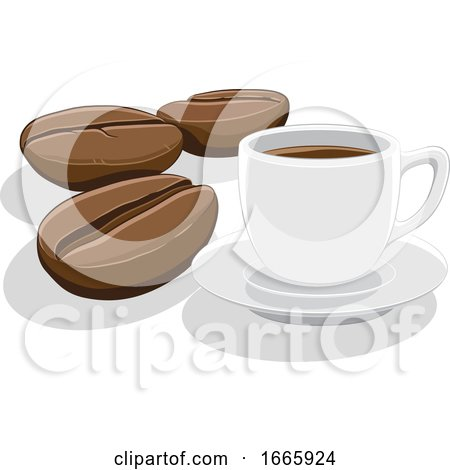 Coffee Cup and Beans by cidepix