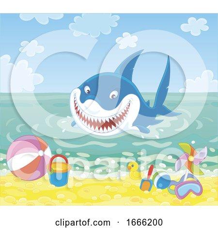 Shark at a Beach by Alex Bannykh