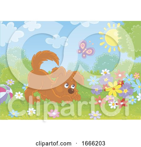 Playful Puppy Dog Posters, Art Prints