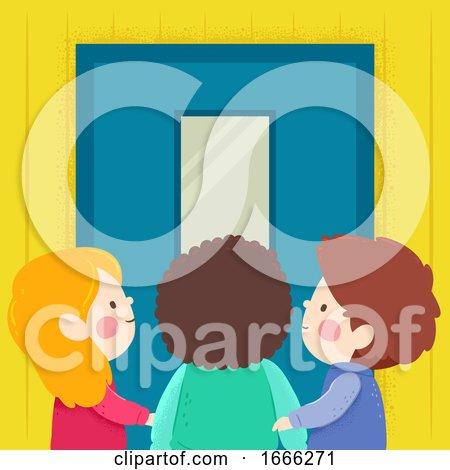 Kids School Door Illustration by BNP Design Studio