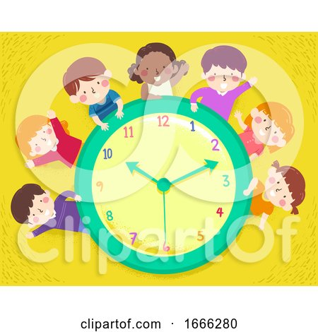 Kids Happy Clock Illustration by BNP Design Studio