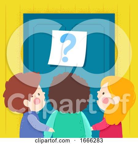 Kids Door Question Mark Illustration by BNP Design Studio