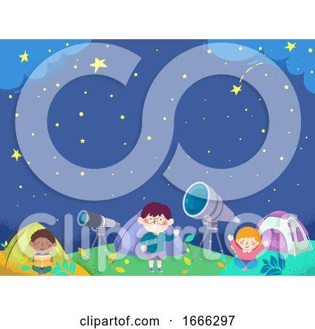 Kids Tent Astronomy Camp Background Illustration by BNP Design Studio