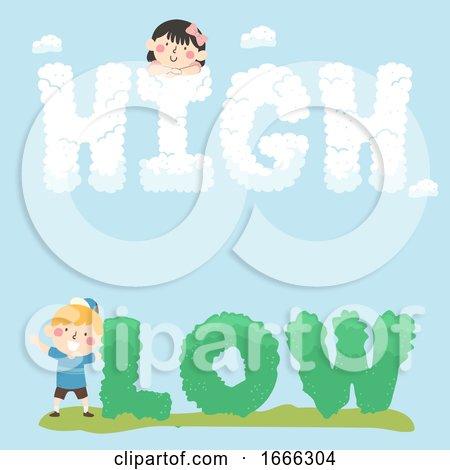 Kids High Low Text Illustration by BNP Design Studio