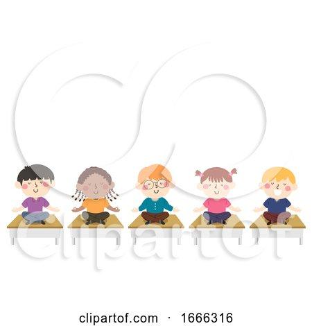 Kids Meditation Class Illustration by BNP Design Studio
