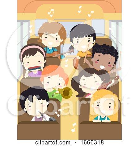 Kids Music Camp Bus Illustration by BNP Design Studio