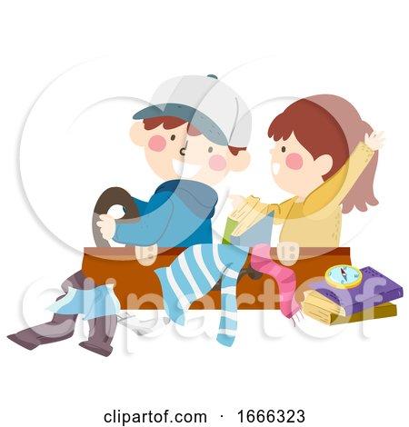 Kids Suitcase Drive Travel Play Illustration by BNP Design Studio