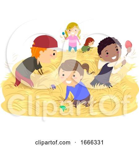 Stickman Kids Easter Egg Hunt Australia by BNP Design Studio