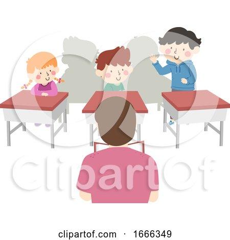 Kids Teacher Class Self Introduction Illustration by BNP Design Studio