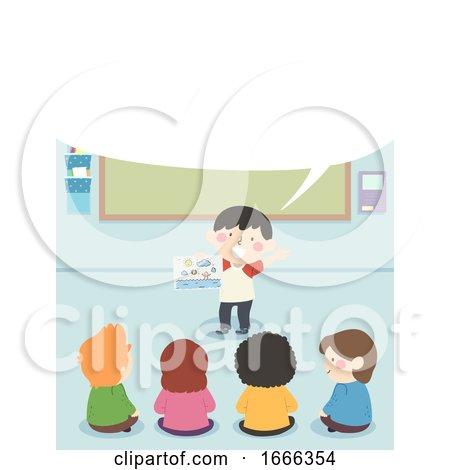 Kids Vacation Story Speech Bubble Illustration by BNP Design Studio