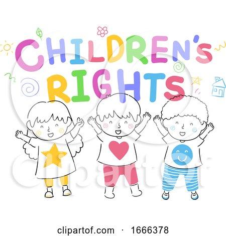 Kids Childrens Rights Illustration Posters, Art Prints
