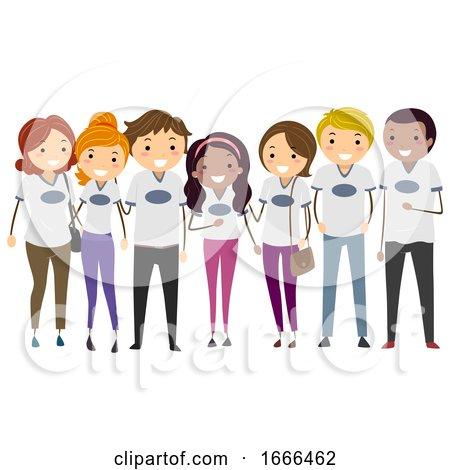 Stickman Parents Group Shirt Illustration by BNP Design Studio
