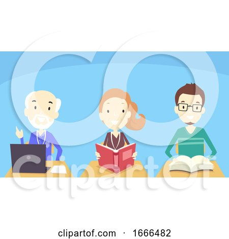 Adult Students Class Illustration by BNP Design Studio