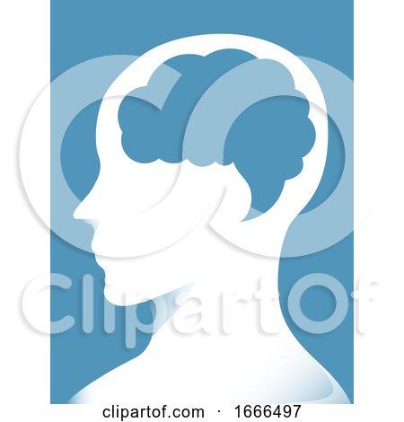 Brain Man Communicate Speech Bubble Illustration by BNP Design Studio