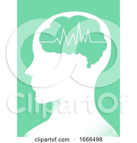 Brain Man Electric Pulse Illustration Posters, Art Prints