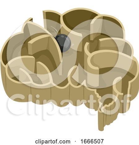 Brain Steel Ball Maze Illustration Posters, Art Prints