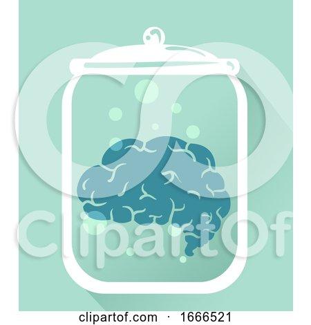 Brain Preserve Jar Illustration by BNP Design Studio