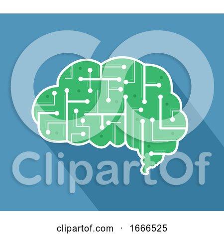 Brain Chip Circuit Illustration by BNP Design Studio