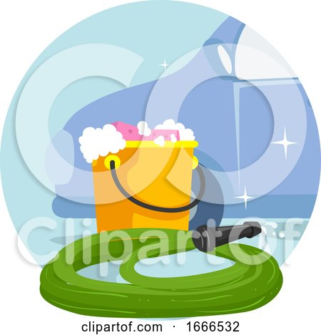 Household Chores Car Wash Illustration by BNP Design Studio