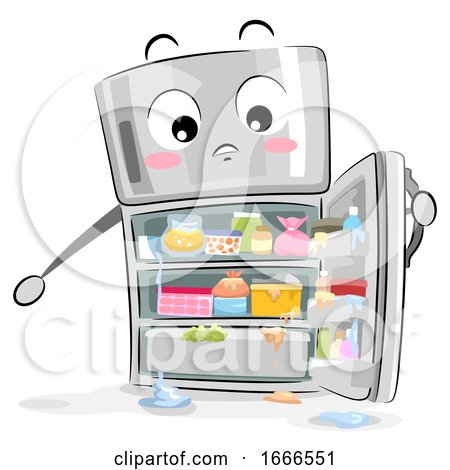 Mascot Refrigerator Messy Illustration by BNP Design Studio