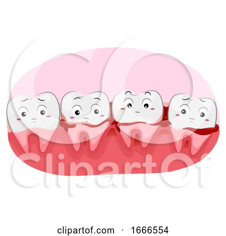 Teeth Mascot Bleeding Gums Illustration by BNP Design Studio