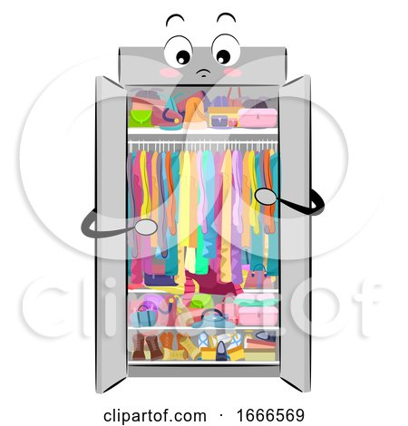 Mascot Closet Full Clutter Illustration by BNP Design Studio