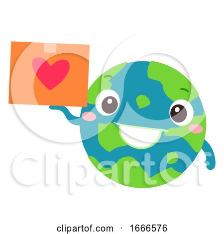 Earth Donation Mascot Global Package Illustration Posters, Art Prints
