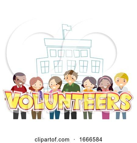 Stickman Parents School Volunteers Illustration by BNP Design Studio