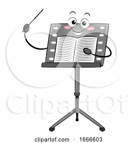 Music Stand Mascot Conductor Stick Sheet by BNP Design Studio