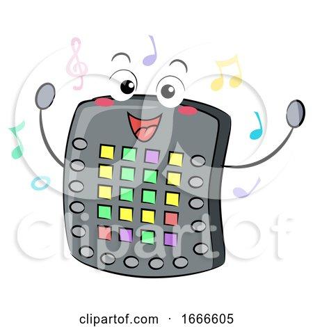 Electronic Drum Pad Mascot Illustration by BNP Design Studio