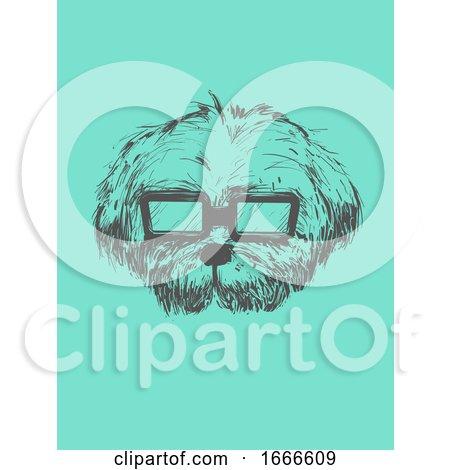 Dog Sketch Sunglasses Illustration by BNP Design Studio