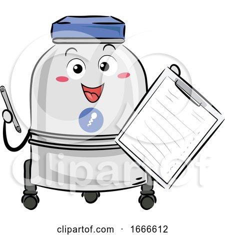 Sperm Bank List Mascot Illustration by BNP Design Studio