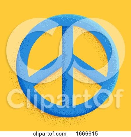 Peace Sign Symbol Illustration by BNP Design Studio