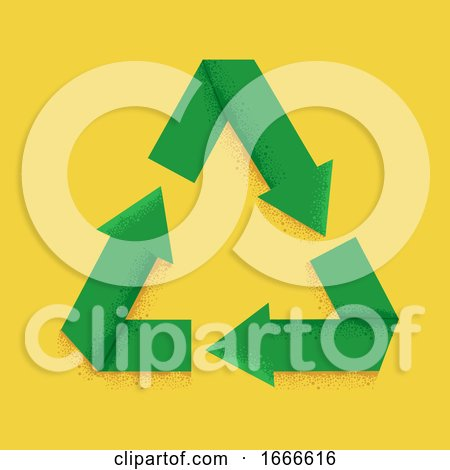 Recycle Sign Symbol Illustration by BNP Design Studio