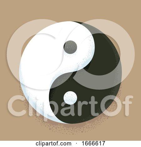Taoism Symbol Yin Yang Illustration by BNP Design Studio