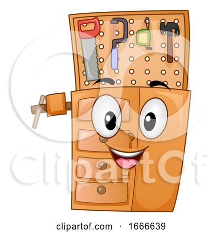 Woodworking Work Bench Mascot Illustration Posters, Art Prints