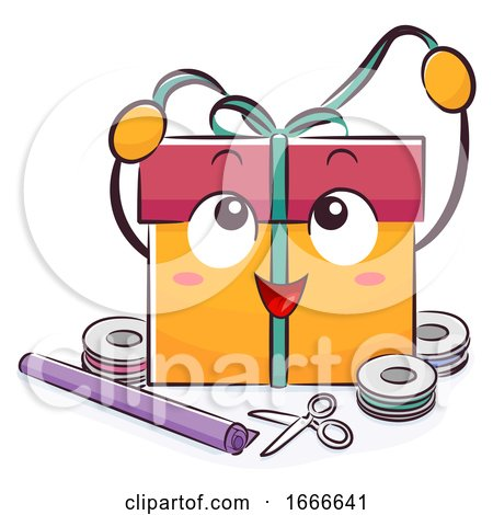 Mascot Gift Wrapping Illustration by BNP Design Studio