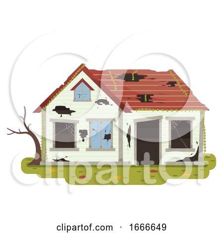 Abandoned House Illustration by BNP Design Studio