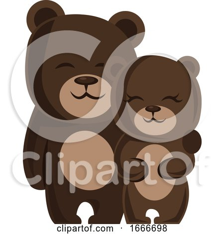 A Male and a Female Bear Hugging Each Other by Morphart Creations