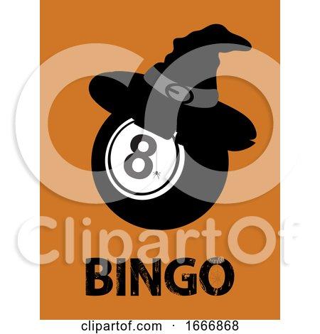 Halloween Bingo Ball with Hat and Text by elaineitalia
