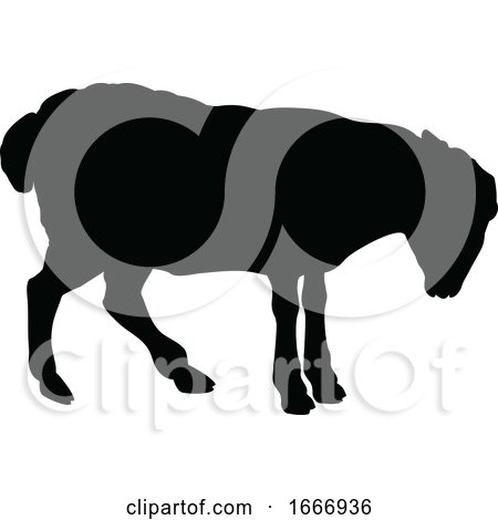 Sheep Farm Animal Silhouette by AtStockIllustration