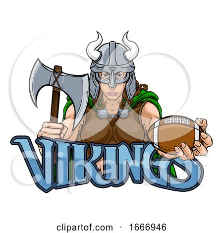 Viking Female Gladiator Football Warrior Woman by AtStockIllustration