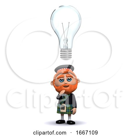 3d Scotsman Has an Idea by Steve Young