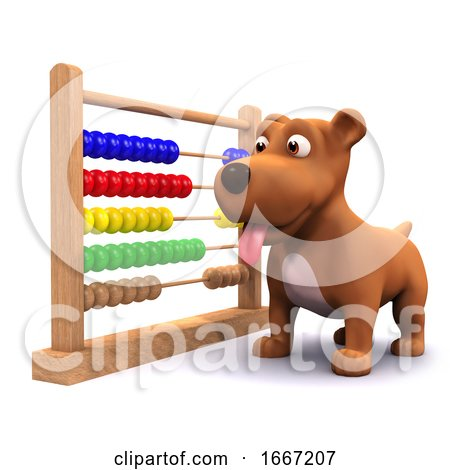 3d Puppy Dog and Abacus Posters, Art Prints