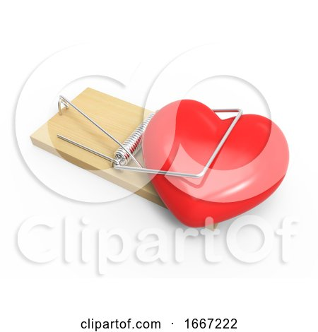 3d Heart in a Mousetrap Posters, Art Prints