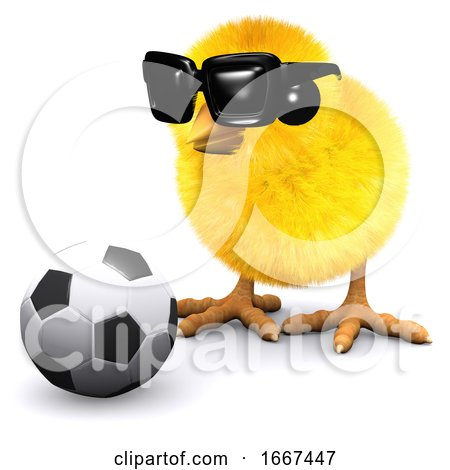 3d Soccer Chick in Sunglasses Posters, Art Prints