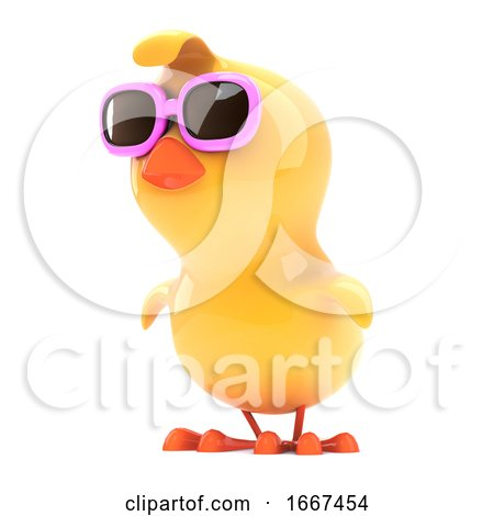 Chick in Pink Sunglasses Looks to the Side Posters, Art Prints