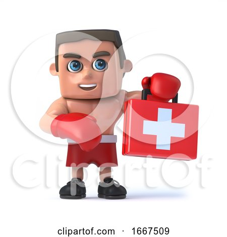 3d Boxer with First Aid Kit by Steve Young